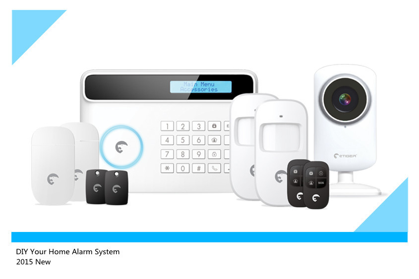 Wifi HD camera With Etiger S4 Wireless GSM/PSTN Home Smart Alarm System Security protection Alarm System With App Control
