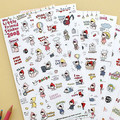 Korea stationery cute Little Red Riding Hood cartoon transparent stickers diary decorative stickers child DIY toy 6sheets/set