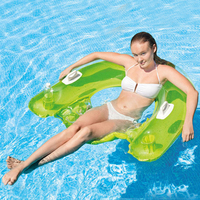 150cm Giant Inflatable Floating Chair For Adults Kids Pool Float Summer Beach Toys Swimming Ring Air Mattress PVC Inflatable Bed