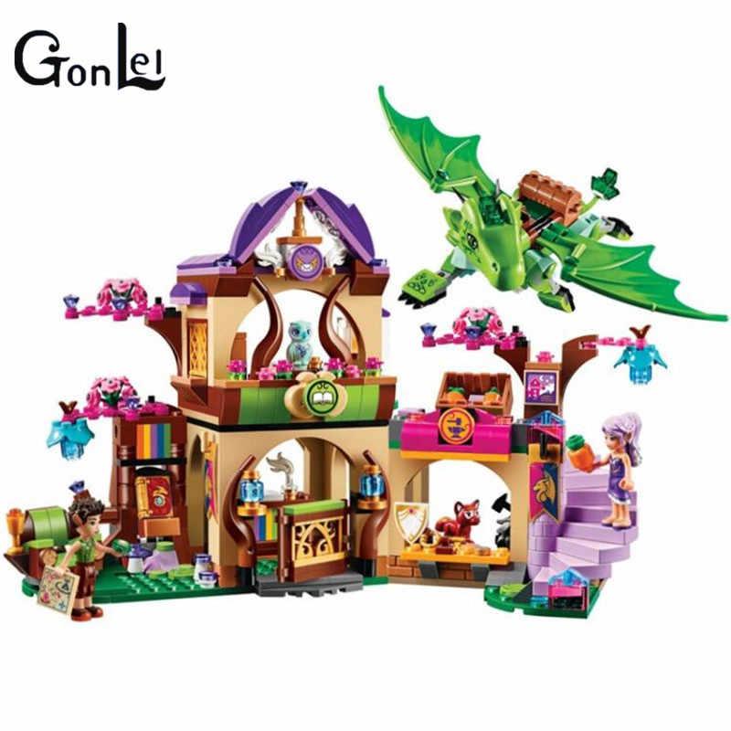 ใช้งานร่วมกับ Legoinglys เอลฟ์ Secret Place การเลี้ยงดูกิจกรรมการศึกษาชุดบล็อกอาคารหญิงของเล่น