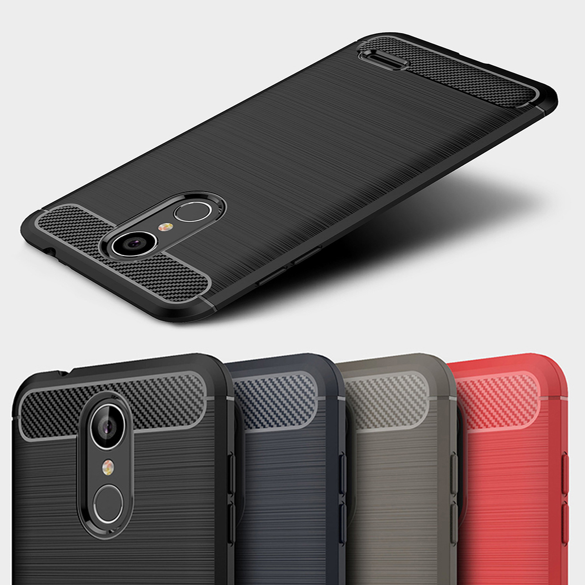 Bolomboy Carbon Fiber Case For LG Q7 Case Silicone Cases For LG V40 V30S V30 Plus Q6 G6 Mini Q Stylo K8 K10 2018 G7 G6 Cover