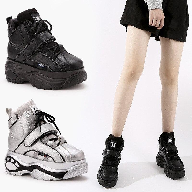 ÉTOILE de LA TERRE Nouvelle Prévente Chaussures Femmes Plate-Forme de Marque Dame chaussure Automne Femelle chaussures Respirant Fille Augmenter Chaussures