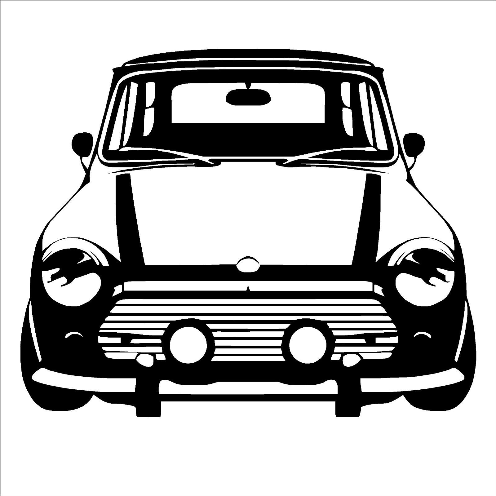 D183 CLASSIC MINI COOPER Vinyl Wall Art car sticker room