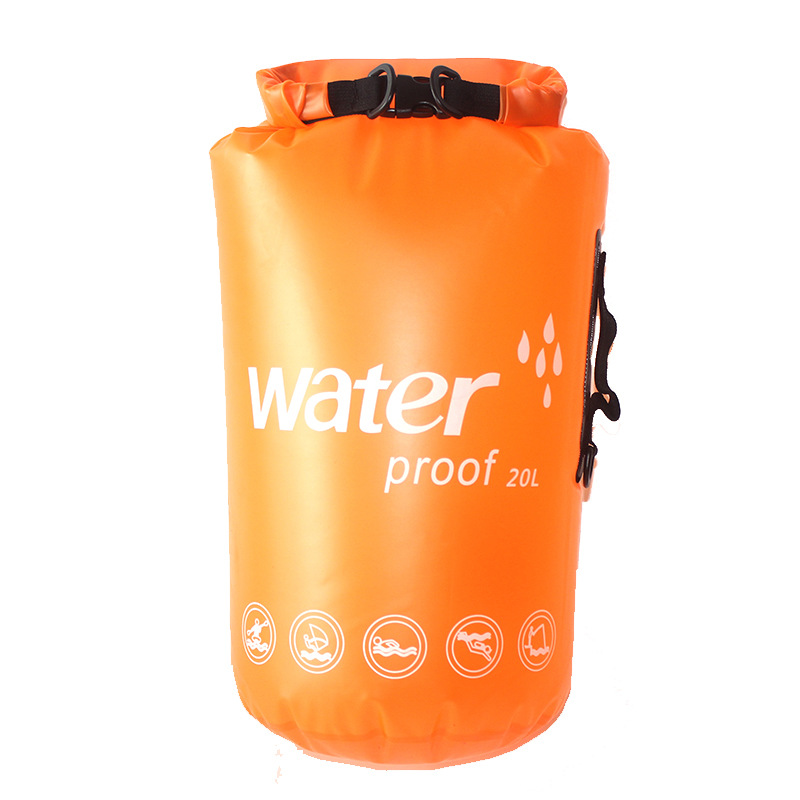 Купить с кэшбэком 10L 20L Translucent Swimming Waterproof Bag Storage Dry Bag Swimming Bag for Canoe Kayak Rafting Outdoor Camping River Trekking