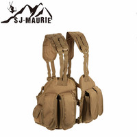 Outdoor Hunting Airsof Tactical Vest Plate Carrier Tactical Chest Rig Pouch Holder Bag Padded Shoulder Combat Military Vest