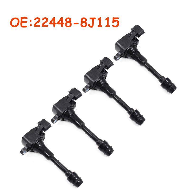 4 PCS 22448-8J115 224488J115 For Nissan Maxima Murano Pathfinder Quest Xterra Infiniti I35 QX4 02 03 04 05 06 07 Ignition Coil