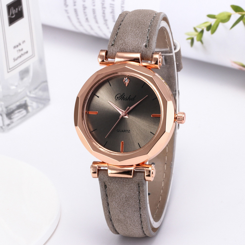 New Fashion Women Watches Luxury Brand Leather Ladies Watch Gift Clock Casual Dress Round Quartz Wristwatch Relogio Feminino #W