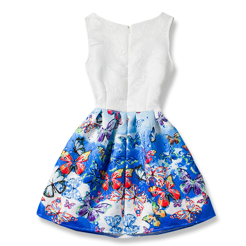 2017-Summer-Girls-Dresses-Elsa-Dress-Anna-Princess-Party-Dress-For-Girls-Vestidos-Teenagers-Butterfly-Print-Baby-Girl-Clothes-1