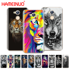 HAMEINUO lion tiger wolf animal print cell phone case cover for huawei honor 6A