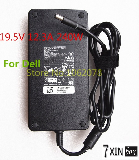 19.5V 12.3A 240W AC Adapter Charger GA240PE1-00 For Dell Alienware M17x M18x X51 M4700 M6400 M6500 M6600 Y044M J211H 6RTJT