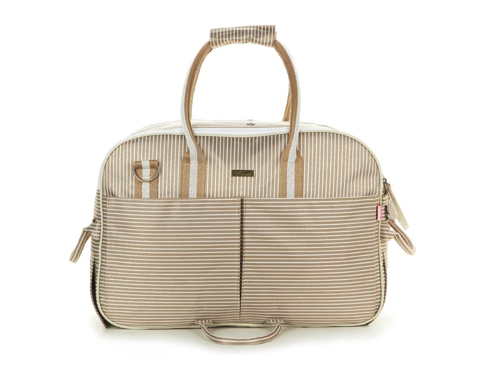 Khaki Striped Polyester Fashion Pet Dogs Carrier Bag Hand Or Sling Free Shipping Fashion Small Puppy Dogs Bag