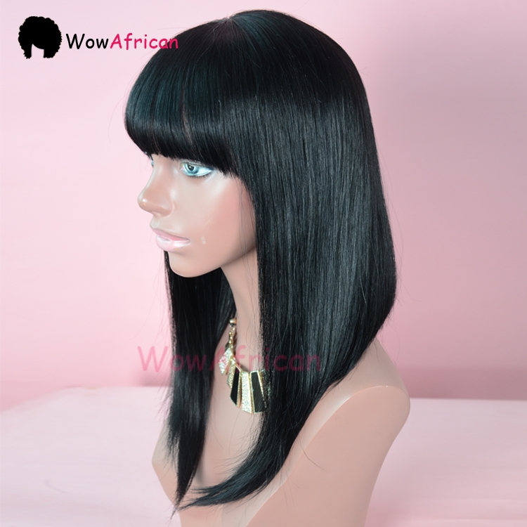 Remarkable Aliexpress Com Buy Brazilian Straight Hair Glueless Lace Front Short Hairstyles Gunalazisus