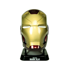 Mark46 Iron Man head Mini wi-fi Bluetooth Speaker HiFi Boombox LED Respiratory Mild Ironman Moveable Subwoofers helmet