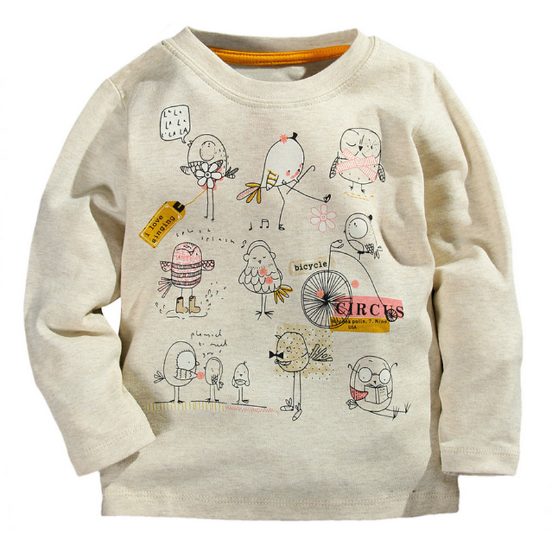 New top design cute animal cartoon kids tops boys girls t Girl t shirts design