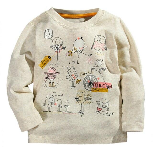 New Top Design Cute Animal Cartoon Kids Tops Boys Girls T-shirt Long Sleeve Clothing Casual Baby Boy Girl Tees Children Clothing