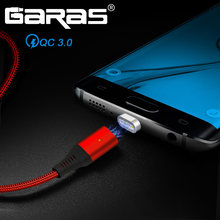 GARAS QC3.0 Magnetic Cable USB Type C Port Quick Charging/Data Cable USB-C For Xiaomi/Samsung/Huawei Mobile Phone Cables Type C(China)