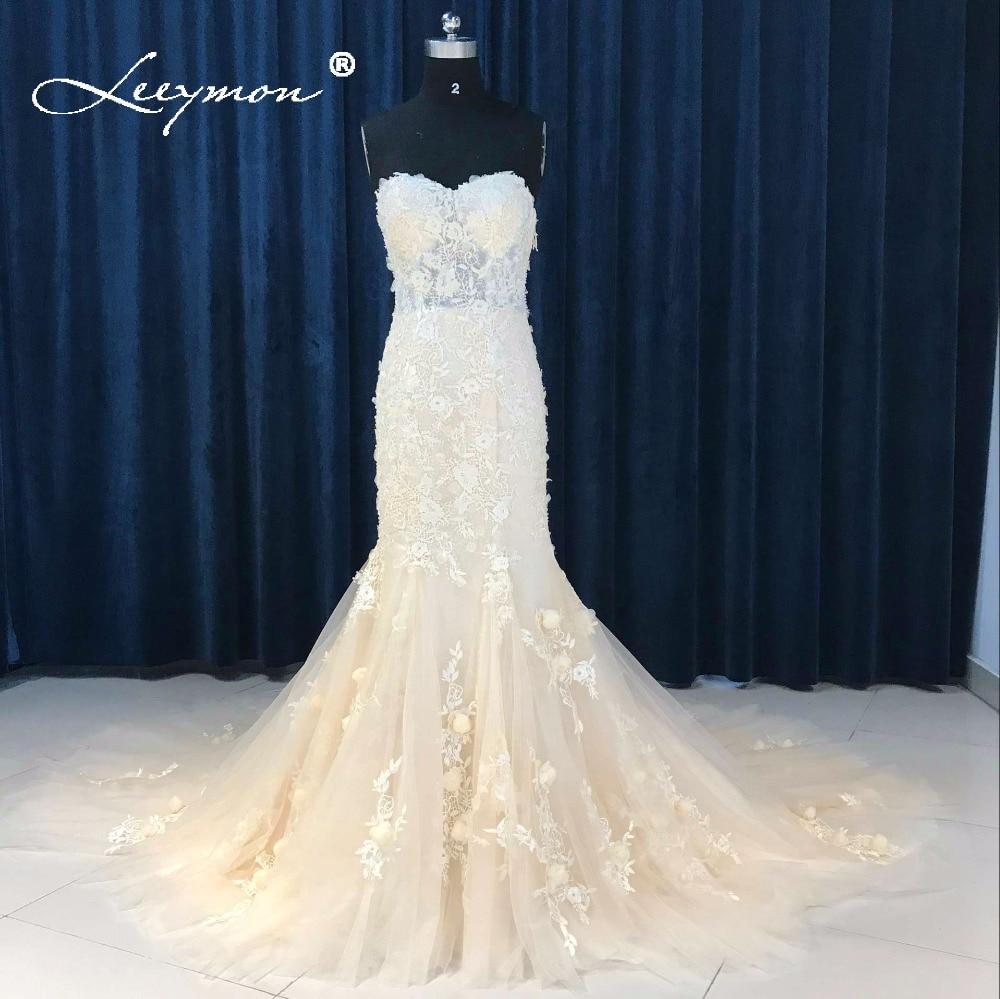 Boho Blush Pink Wedding Dresses 2017 Pretty 3d Flower Lace: Leeymon Blush Bridal Dress 2019 Long Sleeve Bolero Lace
