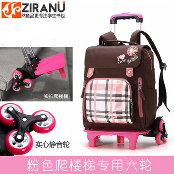 Waterproof Trolley School backpacks Girls boys Children School Bags Wheels Travel Bags Luggage Backpacks Kids Rolling Schoolbags