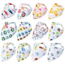 4PCS muslin cloth baby boys girls cotton bibs head scarf Burp Cloths eating clothes bavoir babador bandana newborn bebek baberos