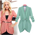 New Fashion Spring Women Slim Blazer Coat Suit Casual Jacket Three Quarter Sleeve One Button Office Work Wear H9