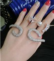 2015 haute couture newest england big full rhinestone brand accessories U style open cuff bangle hand palm women