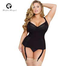 Minifaceminigirl Female Sexy Black Bustier Women Overbust Push Up Corset Top High Quality Lingerie Plus Size and Bustiers
