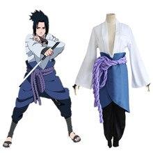 Саске маскарадные костюмы аниме Наруто одежда третьего поколения одежда (Блейзер + Штаны + талии веревкой + цевье)