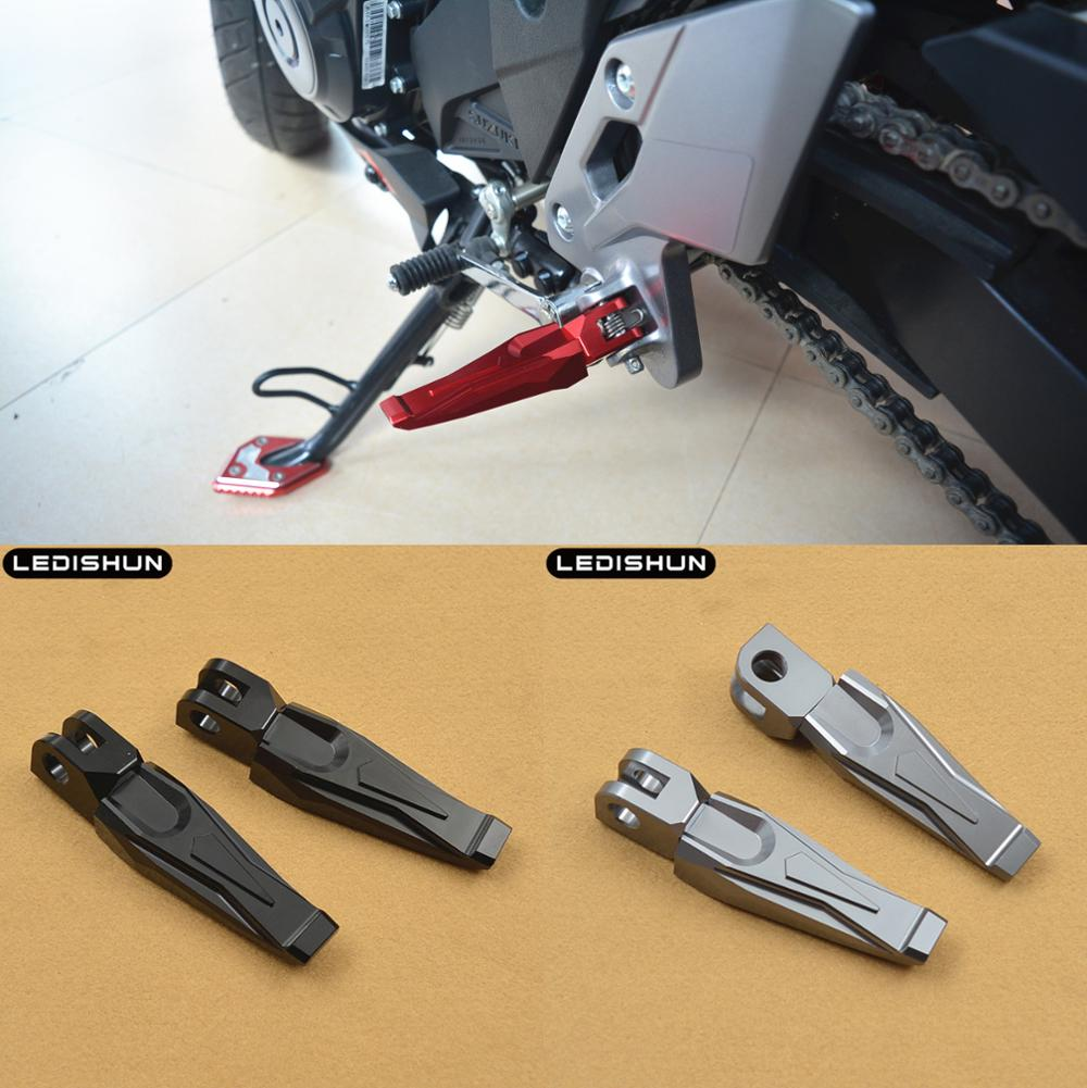 For SUZUKI SFV400 INAZUMA GW250 GSXR1300 Hayabusa SV650 front Foot Pegs Rests Passenger Footrests Front Race
