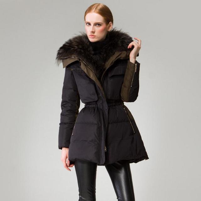 90% down coat 2016 new European real nagymaros collar down jacket