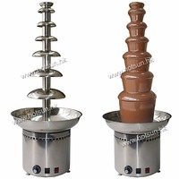 Free Shipping 110v 220v Electric 7 Tiers 103cm Party Hotel Commercial Chocolate Fountain Fondue