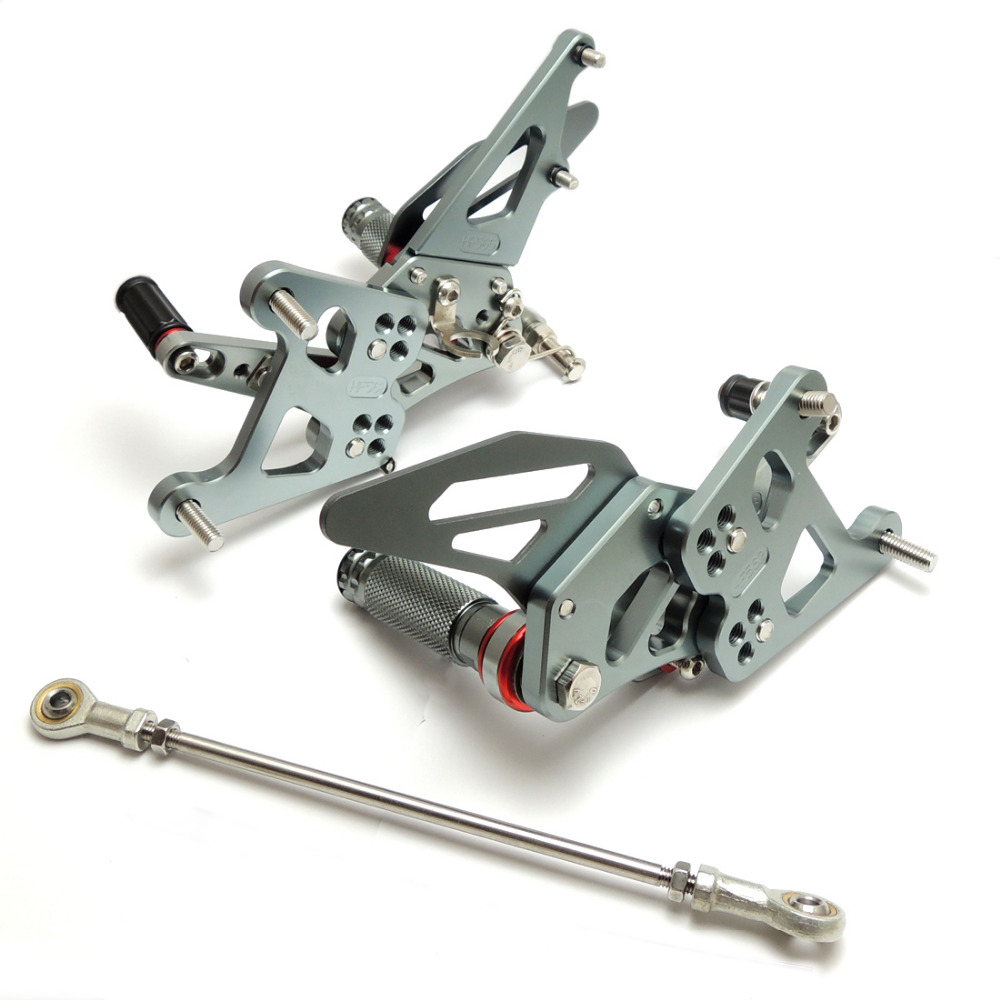 KEMiMOTO Motorcycle Accessories CNC Parts For Honda CBR250R CBR 250R 2011 2012 2013 Adjustable Rear set Footrests Footpegs Foot
