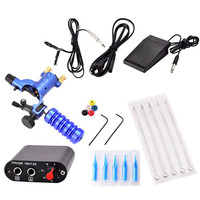 New ATOMUS 1Set Professional Tattoo Accesories Tool Completed Exquisite Workmanship Tattoo Kit Equipment Tattoo Machine Blue
