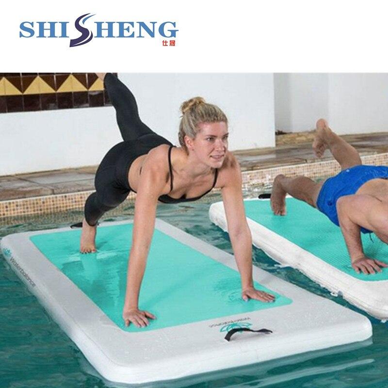Panneau gonflable populaire de yoga de conseil/panneau chaud et mou de yoga