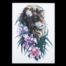 1 Piece Profession King Of Forest Lion Pattern Decal Designs HB233 Waterproof Temporary Tattoo Women Men Body Art Tattoo Sticker