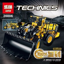 LEPIN 20006 technic series 1636pcs Volvo L350F wheel loader Model Building Kit Blocks Bricks Compatible Toy 42030