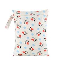 Waterproof Baby Diaper Bags Wet Dry Bag Reusable Washable Zipper Baby Cloth Diaper Storage Bag Tote