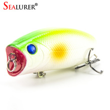 Sealurer Brand Fishing Tackle 5.5cm 11g 3D Eyes Lifelike Wobbler Popper Fishing Lure Pesca Isca Fly Hard Bait Crankbait 8pcs/lot