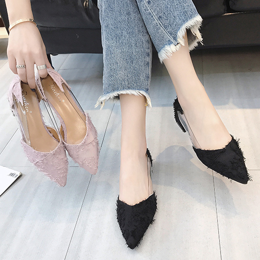 Fashion Women Sandals Low Heel Flat Shoes Ladies Pointed Hoe Party Single Shoes
