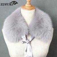 ZDFURS Real Fox Fur Collar Muffler Fur Scarf For Winter Fox Fur Collar For Wool Coat