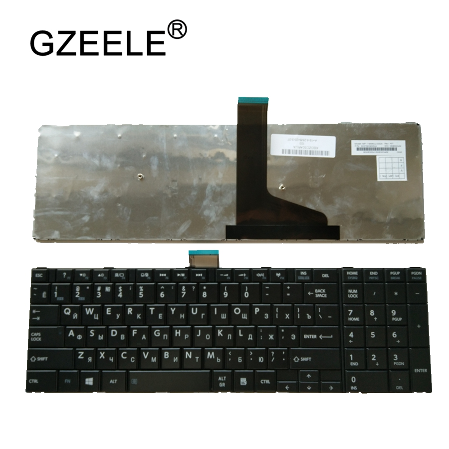 GZEELE New RU Keyboard For Toshiba Satellite C75D L70 L75 S50 S55 C70 C70-A C70D C75 Black russian Laptop Keyboards brand new laptop keyboards for sony vpc el russian ru language keyboards with frame
