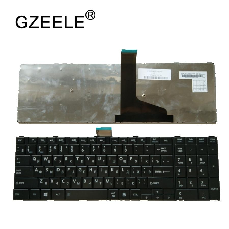 GZEELE New RU Keyboard For Toshiba Satellite C75D L70 L75 S50 S55 C70 C70-A C70D C75 Black Russian Laptop Keyboards