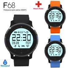 6ชิ้นสมาร์ทนาฬิกาF68นาฬิกาข้อมืออัจฉริยะS Mart W Atch IP67กันน้ำH Eart Rate Monitor Pedometer Colckนาฬิกาจัดส่งฟรี