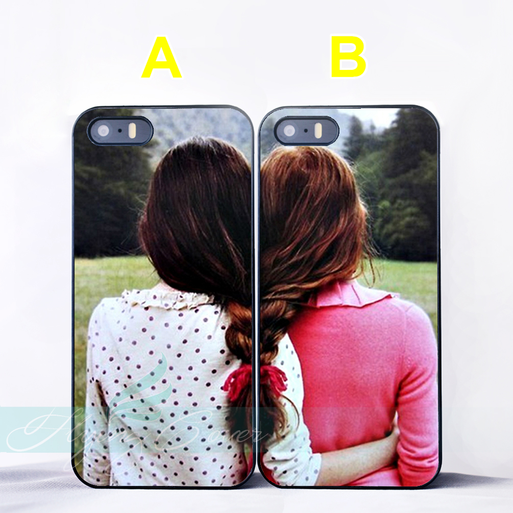 Coque Girls Hair Best Friend BFF Couple Cases for iPhone X ...