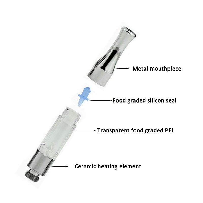 10pcs/lot Jstar G2 Atomizers 510 Cartridges Tank Metal drip tips g2 Vaporizer CE3 O Pen vapor Mini cartomizers e cigarettes
