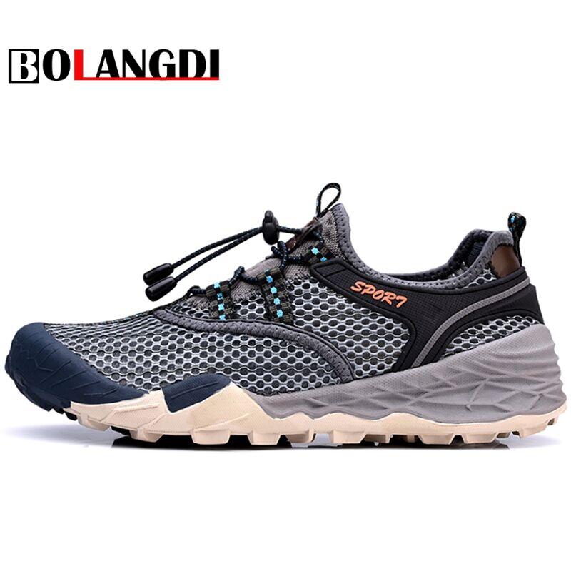 Bolangdi men's Summer Outdoor Trekking Hiking Sandals Shoes Sneakers For Brand men Sports Climbing Mountain Beach Aqua Shoes man camo summer breathable lightweight outdoor sport aqua water shoes men beach surfing sandals hiking trekking climbing sneakers
