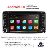 Android 9.0 DVD Player For Toyota Universal RAV4 COROLLA VIOS HILUX Terios Land Cruiser 100 PRADO 4RUNNER DVR Bluetooth rear cam
