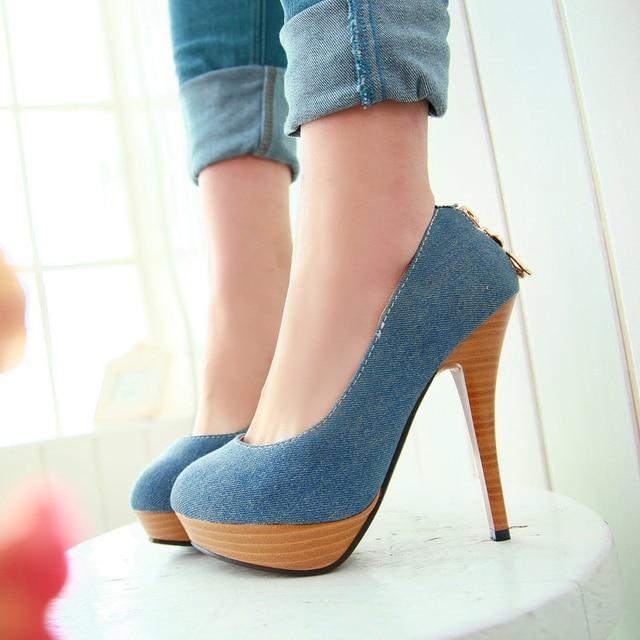 2017 woman pumps women high heel shoes platform shoes sy-1890