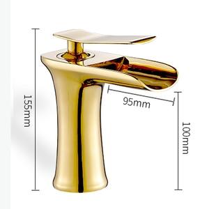 Image 4 - אגן ברזי מפל אמבטיה ברז ידית אחת אגן מיקסר ברז אמבטיה עתיק ברז פליז כיור מים מנוף כסף 6009