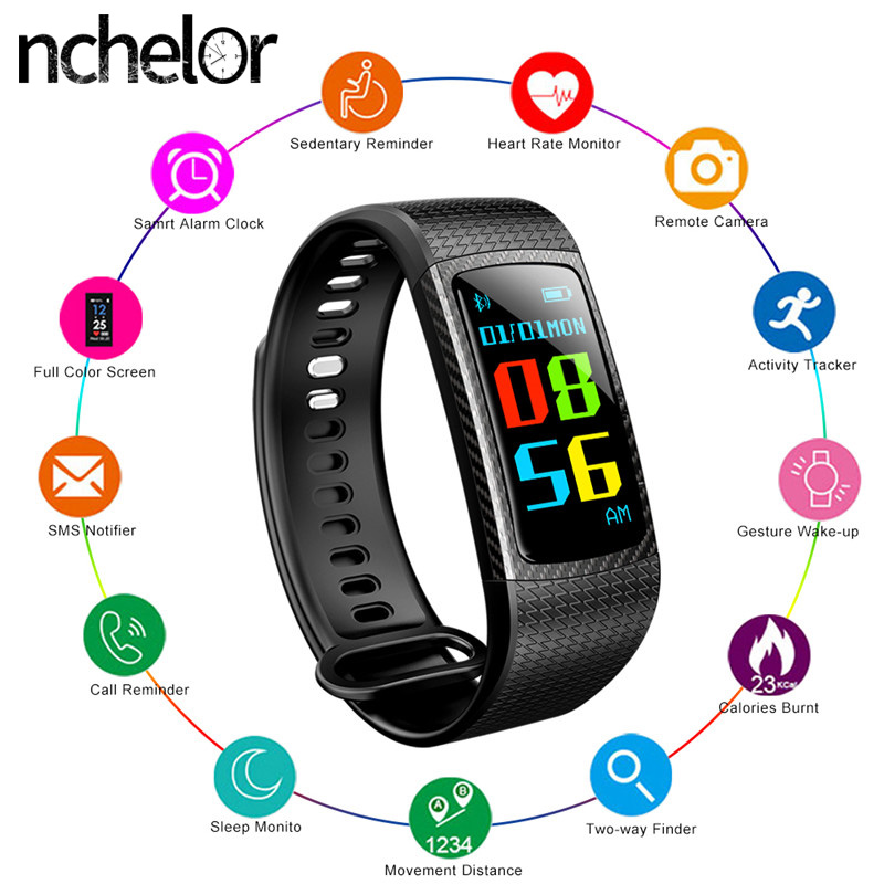 Fitness Tracker Band Heart Rate Blood Pressure Monitor Waterproof Sport Watch with Call Reminder Message Push Pedometer Bracelet chiclits q8 smart watch waterproof sport fitness bracelet heart rate blood pressure message reminder pedometer for android ios