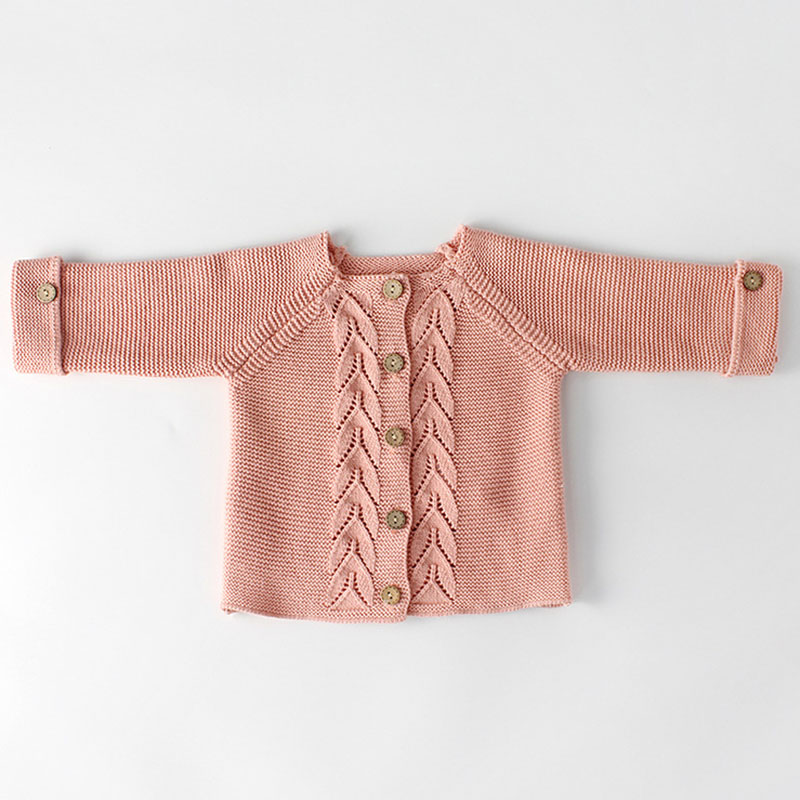 Spring Baby Girls Clothes Baby knitted Romper Set Newborn Baby Girl Cardigan Infant Boys Sweater Cotton Coat Baby Jumpsuit 4